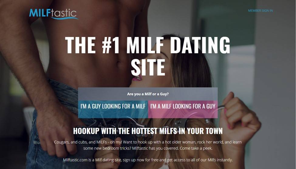 MILFtastic main page